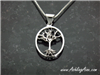 Smaller Sterling Silver  Family Tree Pendant only Tree of Life(BQ1013)