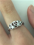 Trinity & Triskelion Sterling Silver Ring (BQ1016) Triskel Irish, Scottish, Welsh Celtic Ring