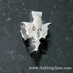 Sterling Silver Scottish Thistle Add-a-Bead (#BQ566)