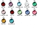 TEN PACK 6mm round Swarovski Crystal Birthstones(birthstones)