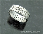 8 mm Sterling Silver Celtic Eternity Band (#BQ1004)