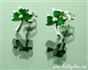 Wee Sterling Silver shamrock earrings