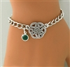 """Wings of an Angel,"" Trinity Knot Emerald Charm Bracelet ( CB BS Knot)"