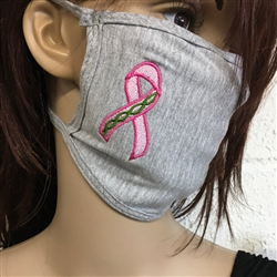 "Celtic Breast Cancer Awareness Ribbon of Life Face Masks Made in the USA Stand ""Celtic Strong!"" Together! Irish support face covering"