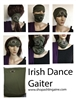 Irish Dance Neck Gaiters, Buff, scarf, headband, Mask, Irish masks, Irish Dance Face Coverings