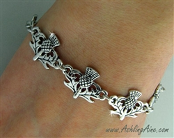 Scottish Thistle toggle bracelet , Scottish Jewelry, Celtic Jewelry, (7009) Ashling Aine ®