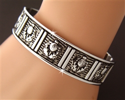 Scottish Thistle Cuff Bracelet