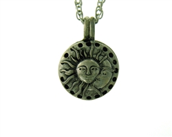 Sun and Moon Diffuser Pendant, Celestial Essential Oil/Perfume Aromatherapy Diffuser Necklace Jewelry(JPEW8019)