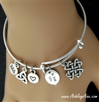 Mo Anam Cara Love knot Cross Adjustable Bangle