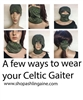Celtic Neck Gaiters, Buff, scarf, headband, Mask, Irish masks, Scottish masks, Welsh Masks, Face Coverings