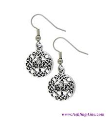 Celtic Scottish Thistle Earrings (Rpew35)