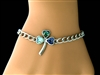 """Full of Faith"" Abalone Shamrock Charm Bracelet (S106)"