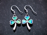 """Full of Faith"" Abalone Shamrock Earrings (S108 w/c)"