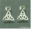316L Stainless Steel Modern Trinity Knot Earrings(S141)