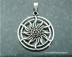 Celtic Sun Pendant, Celtic knots (S195)