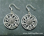 Celtic Sun Earrings, Celtic knots (S196)