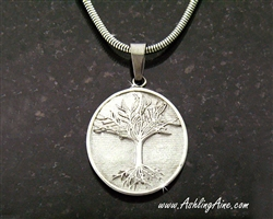 Family Tree Pendant, Stainless Steel Pendant, Oval Disk Family Tree Pendant, Celtic Family Pendant, S208