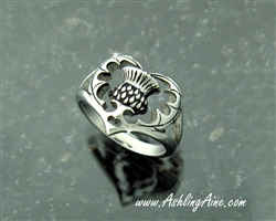 Bold Scottish Thistle Ring I love Scotland In 316 L Stainless Steel (S221)