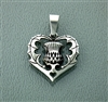 Bold Scottish Thistle Pendant I love Scotland in 316 L Stainless Steel