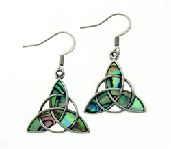 316 L Stainless Steel Trinity Abalone Earrings(S231)