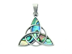 316 L Stainless Steel Bold Trinity Abalone Pendant(S232)