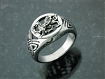 316L Stainless Steel Welsh Dragon Ring (S234)