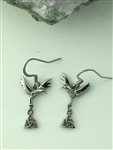 Articulated Trinity Knot Hummingbird Earrings (S274)