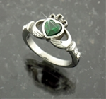"316L Stainless Steel ""A Touch of Ireland"" Claddagh Ring (s67)"