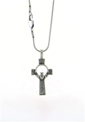 316L Stainless Steel Bold Celtic Claddagh High Cross/Chain (S73BChain)