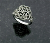 316L Stainless Steel Eternity Love knot Celtic Shamrock Cross Ring (S75)