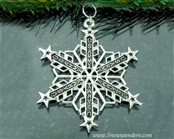 Pewter US Army Chevrons and Stars SnowWonders® Snowflake Ornament(SW6048)