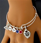 """A Celtic Mother's Love""   TRINITY CHARM BANGLE:(MAC)"