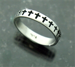 316 L Stainless Steel Cross Stack Ring (s112)