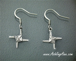 St Brigid's Cross Earrings, Stainless Steel Irish Earrings, Mary of the Gael Cross, Celtic St Brigid's Woven Cross S210