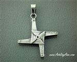 St Brigid's Cross Pendant / Necklace, Stainless Steel Irish Pendant, Mary of the Gael Cross, Celtic St Brigid's Woven Cross S211