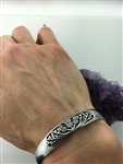 Field Of Thistle Scottish Thistle Cuff bracelet ( S279) Scotland, Highland Cuff