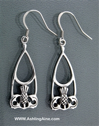 316L Stainless Steel Scottish Thistle Earrings(S74)