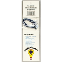 "025301 LIGHT GENIE LED WHITE WITH 12"" LEADS (4 pack)"