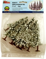 0592077 Snow Evergreen Trees (10/PK)