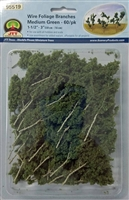 "0595519 FOLIAGE BRANCHES, Medium Green, 1.5"" to 3"", 60 pcs"