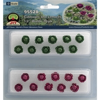 "0595528 CABBAGES & LETTUCE 1/2"" Tall O Scale, 20/pk"