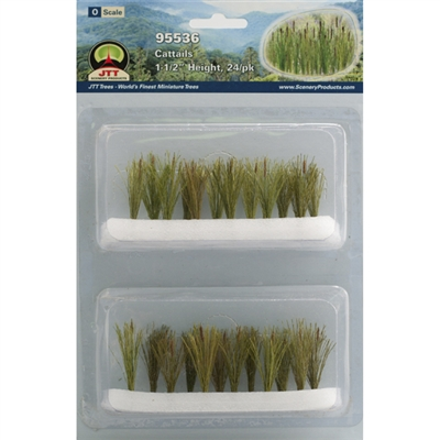 "0595536 CATTAILS 1-1/2"" tall O-scale, 24/pk"