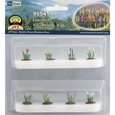 "0595541 LUPINES 1/2"" tall HO-scale, 8/pk"