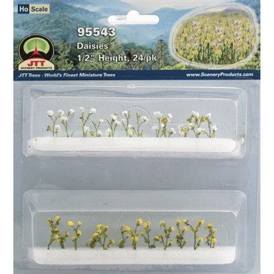 "0595543 DAISIES 1/2"" tall HO-scale, 24/pk"