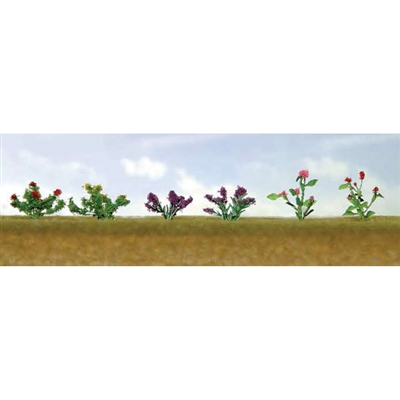 0595557 FLOWER PLANTS ASSORTMENT 1, HO-scale, 12/pk