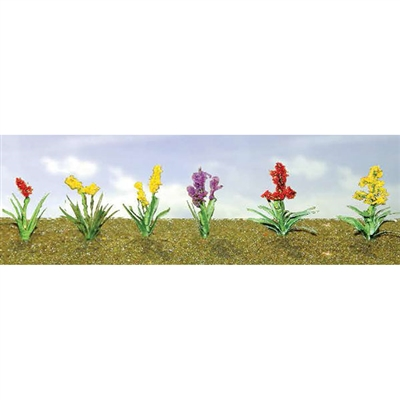 0595560 FLOWER PLANTS ASSORTMENT 2, O-scale, 10/pk
