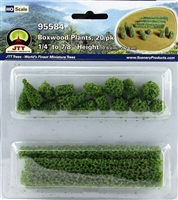 0595584 BOXWOOD PLANTS, HO-scale, 20/pk