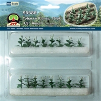 0595586 TOBACCO PLANTS, HO-scale, 16/pk