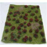 "0595604 FLOWERING MEADOW Red, 5"" x 7"" sheet."