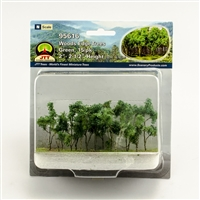 "0595616 WOODS EDGE TREES Green, 2"" to 2.5"", N-scale, 15/pk"